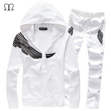 Mens Wing Designer Tracksuit Set White Polyester, Cotton