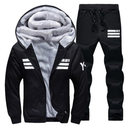 Mens Y8 Hooded Black Tracksuit