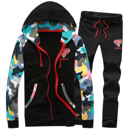 Mens hooded camo Tracksuit